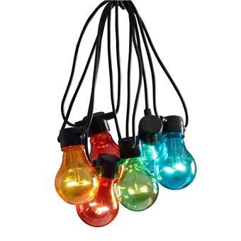 Konstsmide LED Partysnoer Basisset Multicolor 9m/10 lampjes