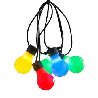 Konstsmide LED Partysnoer Opaal Multicolor 4.5m/10 lampjes